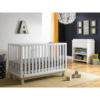 Fisher-Price Riley Island Crib, Snow White/Misty Grey