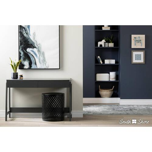 Console Table with 2 Drawers - Charcoal Gray