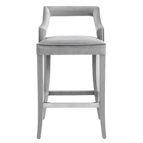 Tov Furniture - Tiffany Grey Velvet Counter Stool