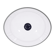 White ANTIGUA Undermount Lavatory, 17""