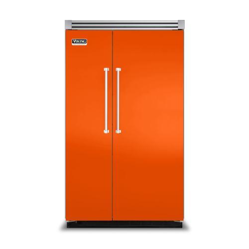 "Viking - Pumpkin 48"" Side-by-Side Refrigerator/Freezer - VISB (Integrated Installation)"