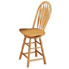 "DLU-B24-LO  24"" Swivel Barstool  Light Oak Finish"