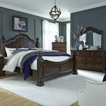 View Product - Queen Poster Bed, Dresser & Mirror