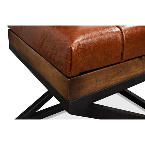 Leather Cushion Bench