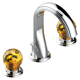 Widespread bidet set with drain