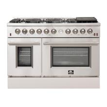 "Forno Alta Qualita FFSGS6291-48 48"" Gas Range Pro-Style 8 Defendi Italian Burners 107,000 BTU All 304 Stainless Steel"