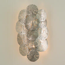Lily Pad Wall Sconce-Antique Nickel-HW