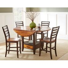 Abaco 5 Piece Drop-Leaf Counter Set(Counter Table & 4 Counter Chairs)