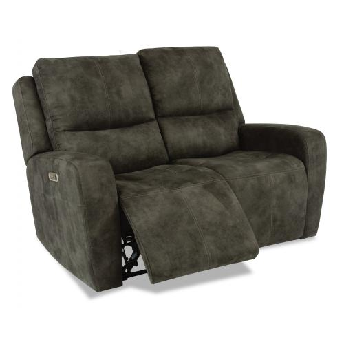 Aiden Power Reclining Loveseat with Power Headrests