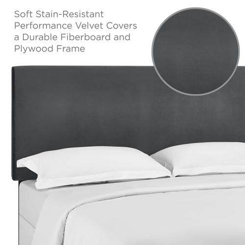 Modway - Taylor King and California King Upholstered Performance Velvet Headboard in Gray