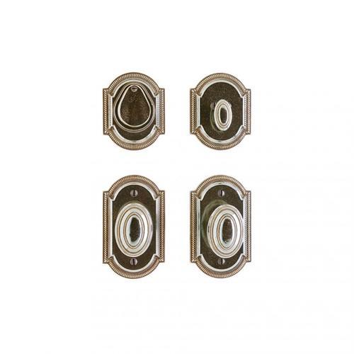 "Rocky Mountain Hardware - Ellis Entry Set - 3"" x 5"" Silicon Bronze Brushed"
