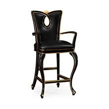 Black painted barstool (Arm)
