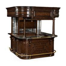 See Details - Complete Linenfold Tudor Oak Home Bar