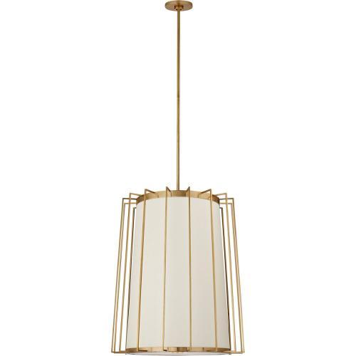 Visual Comfort BBL5013SB-L Barbara Barry Carousel 2 Light 24 inch Soft Brass Lantern Pendant Ceiling Light, Medium Tapered
