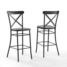 CAMILLE 2PC BAR STOOL SET