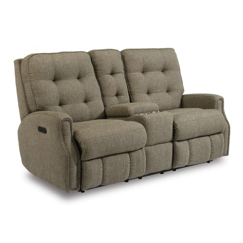 Gallery - Devon Power Reclining Loveseat with Console and Power Headrests