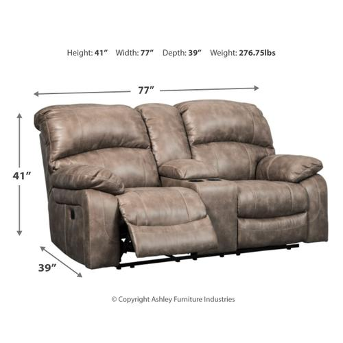 Gallery - Dunwell Power Reclining Loveseat With Console