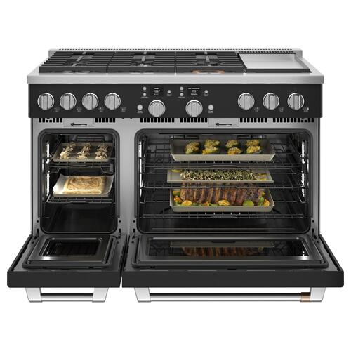 """Café 48"""" Smart Dual-Fuel Commercial-Style Range with 6 Burners and Griddle (Natural Gas) - Coming Soon"""