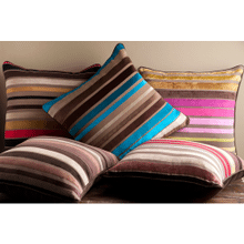 "Velvet Stripe JS-020 18"" x 18"" Pillow Shell Only"