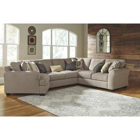 Pantomine 4-piece Sectional With Cuddler driftwood beige