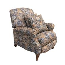 Sunset Trading Navy Gold Abode Recliner  Manual Reclining Chair  Includes Two Matching Pillows
