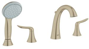 Agira Four-Hole Roman Bathtub Faucet with Handshower Product Image