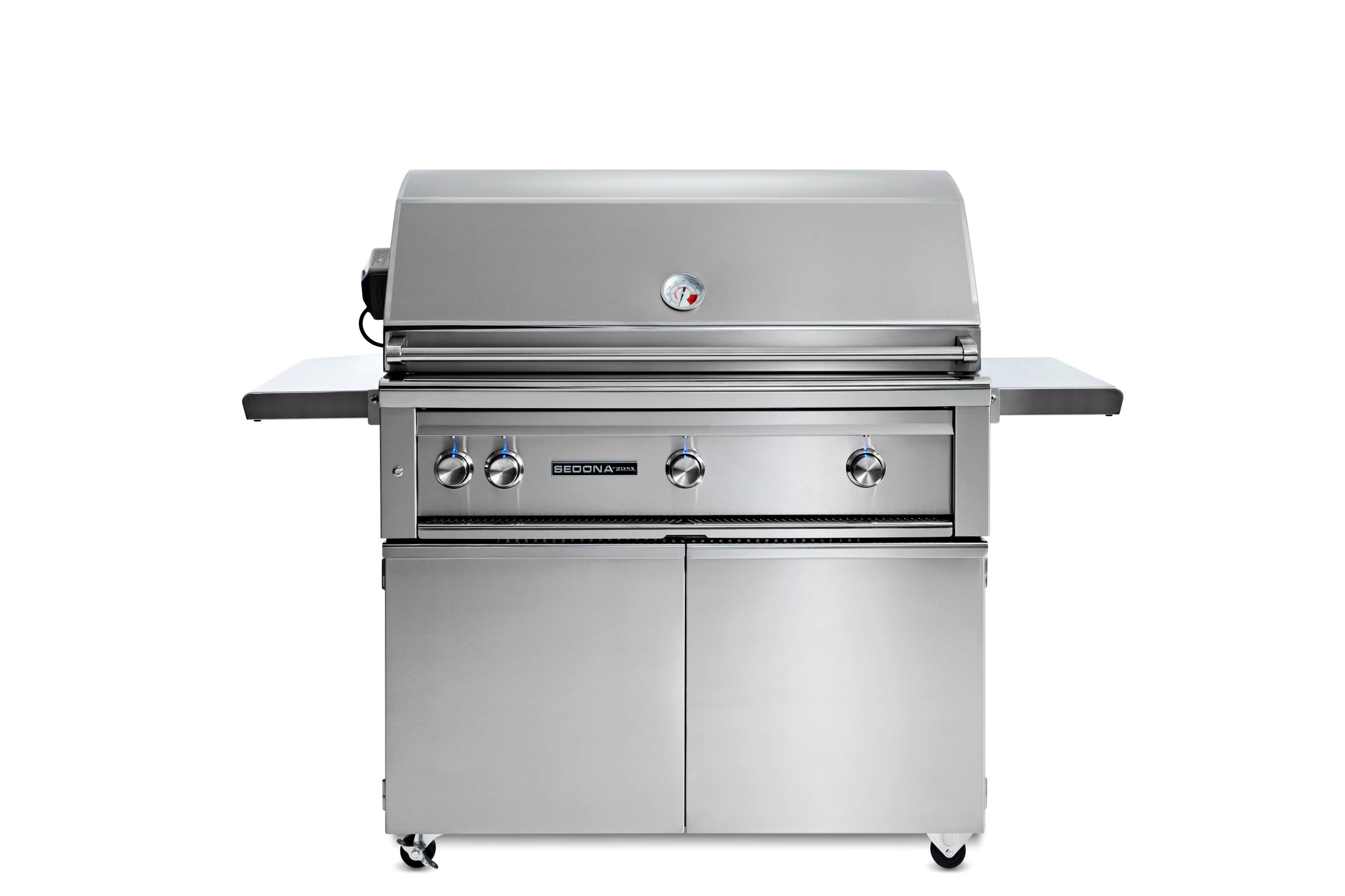 """Lynx42"""" Sedona By Lynx Freestanding Grill With 3 Stainless Steel Burners And Rotisserie, Lp"""
