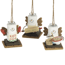 S'mores Cooking Angel Ornaments (3 asstd)