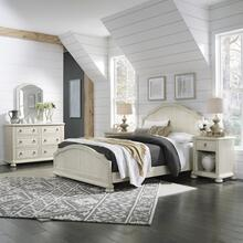 Provence Queen Bed, Nightstand and Dresser With Mirror