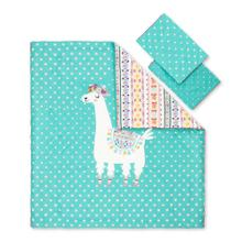 Kids Comforter and Pillowcase Festive Llama - 54''