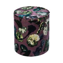 Boho Floral Velvet Pouf