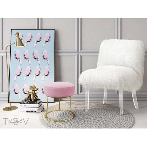 Tov Furniture - Nina Blush Velvet Stool