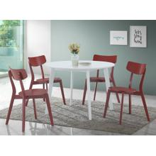 See Details - Roma Contemporary 5-PC Wood Dining Set, Red