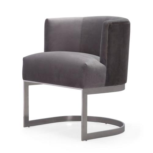 Eva Grey Velvet Chair