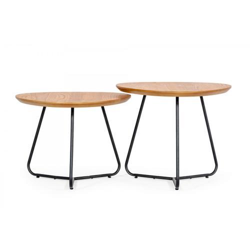 Modrest Eudora - Industrial Oak Short End Table