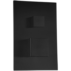 "Pressure Balance Mixer with 2-Way Diverter + ""Off"" Position Trim Kit SQU, Matte Black Product Image"