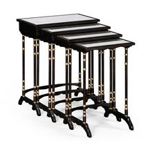 Black painted nesting table