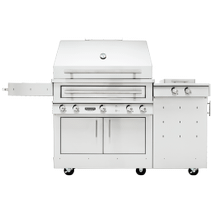 K750 Freestanding Hybrid Fire Grill with Side Burner