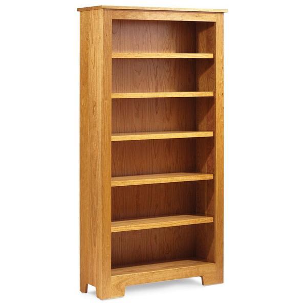 See Details - Shaker Wide Bookcase, 4 Adjustable Shelves / 37