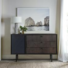 Cross Solid Oak and Metal 3 Drawer Dresser