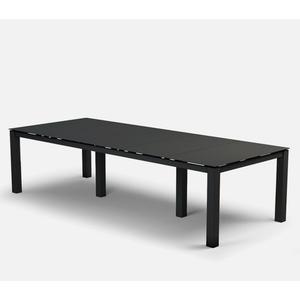 "44"" x 110"" Rectangular Cafe Table (no Hole) Ht: 30"" Post Aluminum Base (Model # Includes Both Top & Base)"
