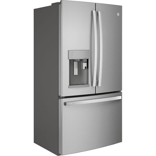 GE Profile 22.1 Cu. Ft. Counter-Depth French-Door Refrigerator with Keurig® Brewing System Stainless Steel -PYE22PYNFS
