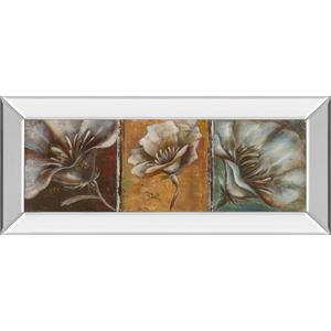 """The Three Poppies I"" By Patricia Pinto Mirror Framed Print Wall Art"