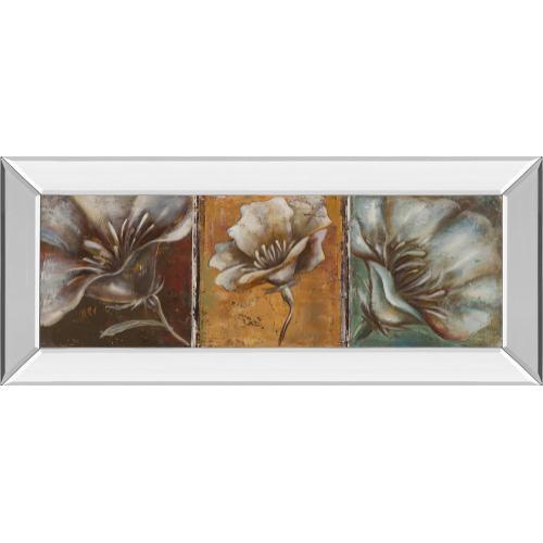 "Classy Art - ""The Three Poppies I"" By Patricia Pinto Mirror Framed Print Wall Art"