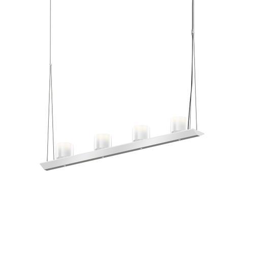 "Sonneman - A Way of Light - Votives LED Bar Pendant [Size=3', Color/Finish=Bright Satin Aluminum, Shade Size=3"" height x 3"" diameter]"