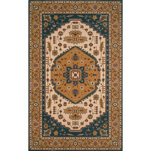 Persian Garden Pg-03 Teal Blue - 2.6 x 8.0 Runner