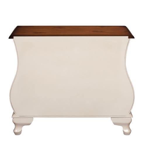 Coastal-Inspired Accent Bombe Chest