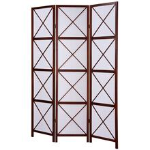 See Details - 3-Panel Screen Room Divider - Walnut