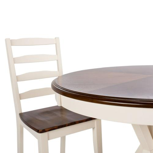 Shay 5 Piece Dining Set - White / Natural