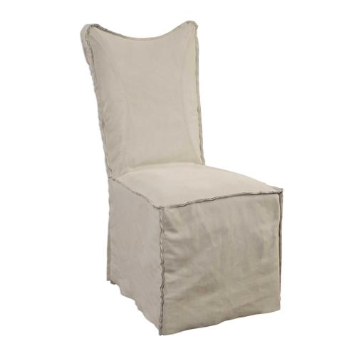 Delroy Armless Chair, Stone Ivory, 2 Per Box